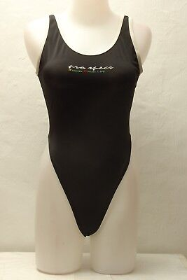 Black Spandex Thong Leotard for Women size 12 Medium