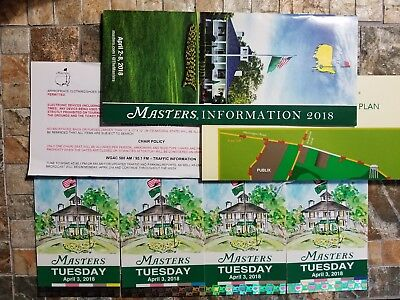 4 - Masters Tickets 2018 - Tuesday Practice Round - FREE SHIPPING - AUGUSTA, GA