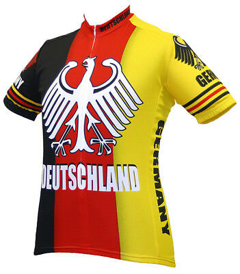"Team Germany /""Ride Light /& Strong/"" Men/'s Cycling Jersey"