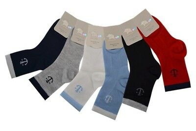 Boys Summer Socks Kids Spring Sock 90% Cotton 3 pairs various colours and sizes