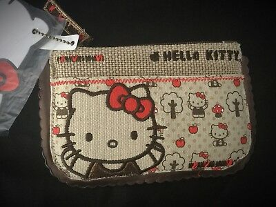 Collectible Sanrio Hello Kitty Canvas Coin Purse  NWT 2009