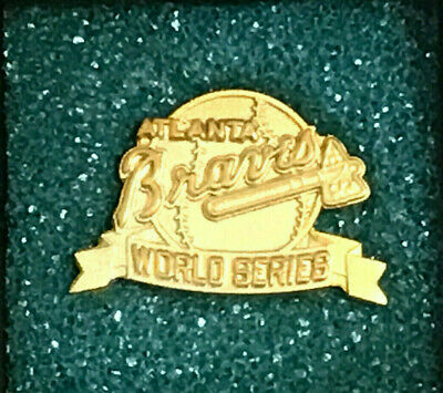 1991 Atlanta Braves World Series Press Pin - Jostens Original In Box - Mint