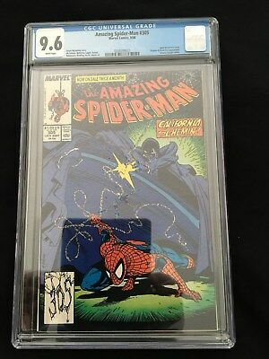 Amazing Spiderman 305 CGC Graded 9.6 NM+ WHITE PAGES - TODD McFARLANE Cover
