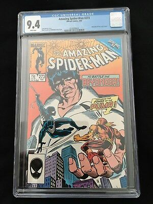 Amazing Spiderman 273 CGC Graded 9.4 NM WHITE PAGES - PUMA & Beyonder Appearance