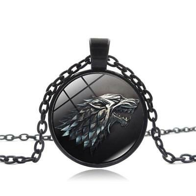 Game of Thrones House Stark Wolf Pendant Necklace