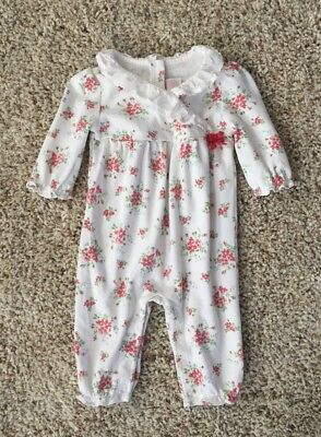 Janie And Jack Baby Girls Knit One Piece Romper Outfit. 3-6 Months.