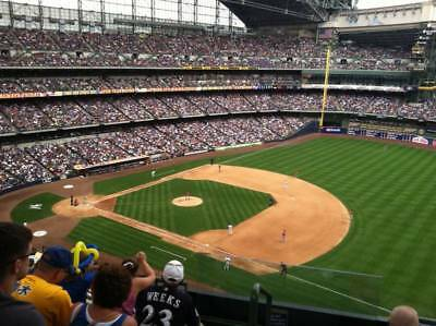 4 tix Chicago Cubs vs Milwaukee Brewers Saturday 4/7 @ 3pm - Section 410, Row 12