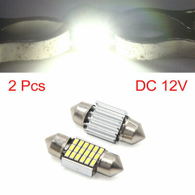 2pcs White 31mm 3014 SMD 18 LED Car Lights Festoon Interior Dome Map Lamp Bulb