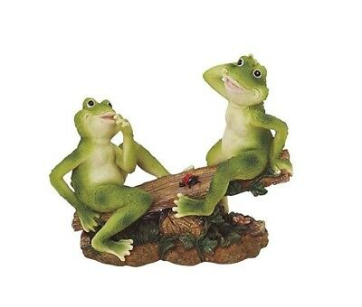 Frogs on Seesaw Statue - Sculpture, Outdoor Lawn, Yard, Garden, Patio Decor