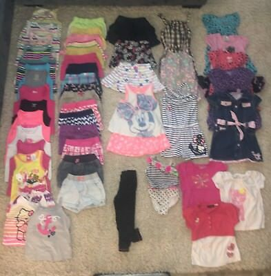 Huge Lot Toddler Girl Spring & Summer Clothes 4T - 48 Items
