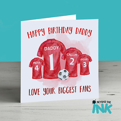 Personalised Football Birthday Card For Dad