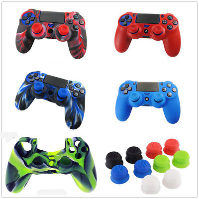 Silicone Rubber Soft Case Skin Cover Grip For Sony Playstation 4 PS4 Controller