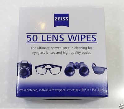 50PCS ZEISS Lens Cleaning Wipes Cleaner for Camera Lens,Telescope,Binoculars