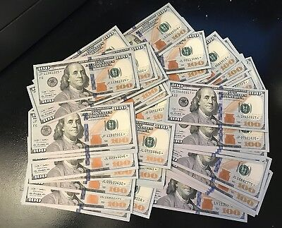 **star** Note One Hundred Dollar Bill $100 << Uncirculated >> 25+ Feedbacks Only