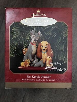 Hallmark Keepsake Ornament 1999 Disneys Lady and the Tramp Family Portrait NIB