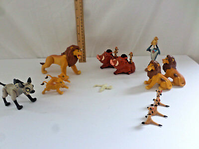14 Disney The Lion King Lot of Action Figures,AND CAKE TOPPERS early 90s Vintage