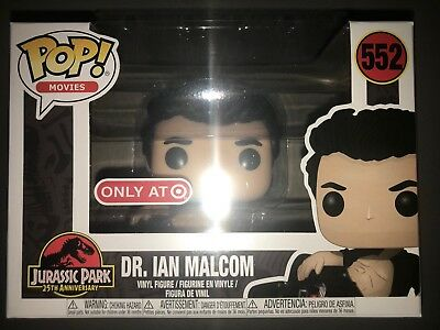Dr. Ian Malcolm (Malcom) Wounded Jurassic Park Funko Pop - Target Exclusive. New