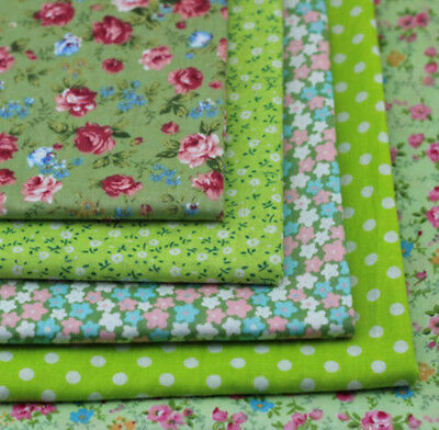 One PCS Green Floral Fabric Pre-Cut Cotton Quilt Cloth Fabric For Sewing
