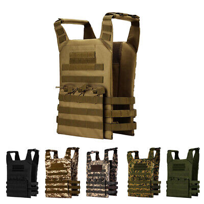 Lovoski Military Tactical MOLLE Adjustable Plate Carrier Vest Outdoor