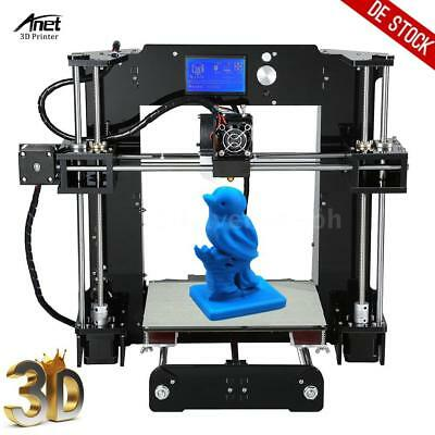 Anet A6 High Precision LCD 3D Drucker Reprap i3 DIY Kit 22*22*25cm mit 16GB SD