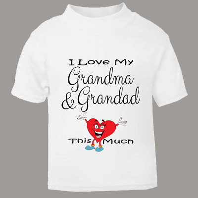 "Baby Skater Top /""I Love My Nanny this Much/"" Long Sleeved Tee Grandmother"