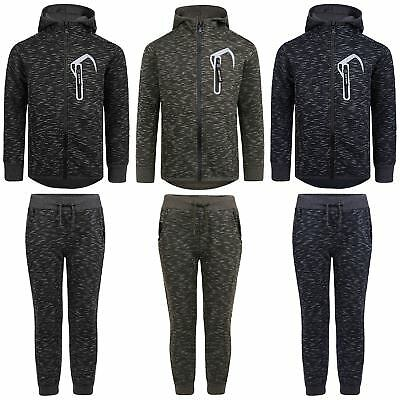 Boys Girls 2 Piece Tracksuit Kids Hood Top Jumper Jogging Bottoms Pants 3-14 Y