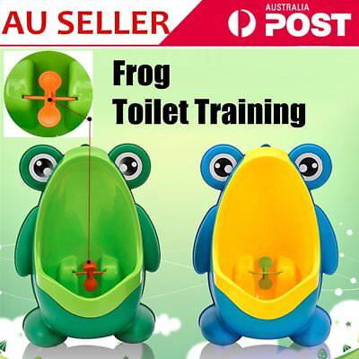 Cute Boy Baby Child Cartoon Animal Frog Shape PP Standing Urinal Toiletl la