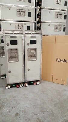 Original Half Size Waste-Trolley -  British Airways - inkl. Karton-Bin