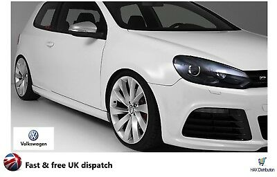 Vw Golf Mk 6 Brushed Alu Wing Mirror Caps - Covers 2009-2012 R Line Style - Uk