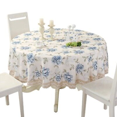 Fashion Tablecloth Floral Table Cover Crochet Table cloth Home Decor Pure Color