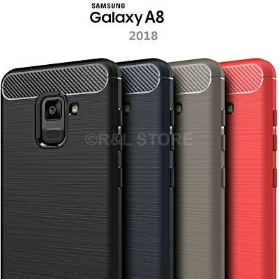 COVER per Samsung Galaxy A8 2018 CUSTODIA Morbida Carbonio ORIGINALE FEELCARBON