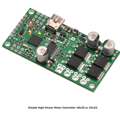 Pololu High-Power Simple Motor Controller G2 24v12 one Brushed DC Motor PO1365