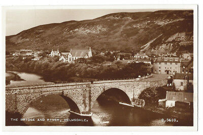 HELMSDALE The Bridge and River, RP Postcard by Valentine, Unused