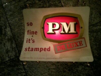 Older PM Deluxe Electric Lighted Whiskey Advertisement Sign