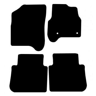 Tailored Black Car Floor Mats Carpets 4pc Set with Clips for Citroen C3 Picasso