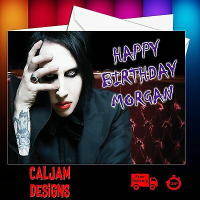Marilyn Manson Birthday Card Personalised Any Age Text Or Relation