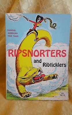 1958 Vintage A Scholastic Book Ripsnorters Ribticklers Folk Tales 35¢