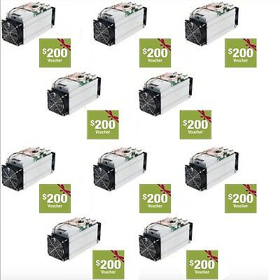New in Box 10 Bitmain Antminer S9's 13.5TH *Free Shipping* $2000 in Coupons Incl