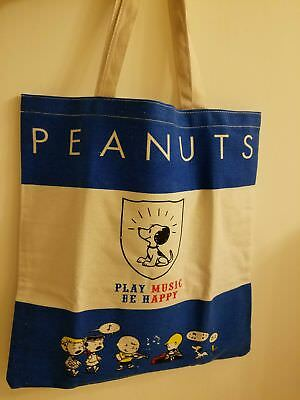 Peanuts Snoopy (Thick) Canvas Shoulder shopping Tote Bag (NEW)