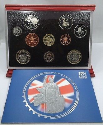 Royal Mint - 2004 United Kingdom Deluxe Proof Coin Set  (T1060)