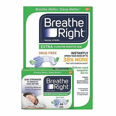 Breathe Right Extra Strength Nasal Strips, Clear 44ct