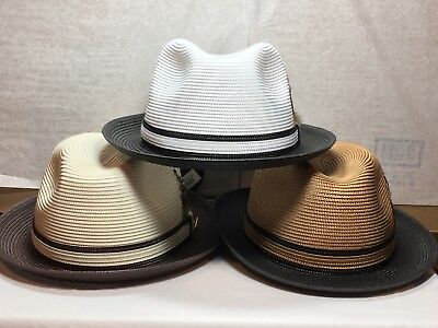 New with Tag Men's Stacy Adams SA 391 Straw Hat