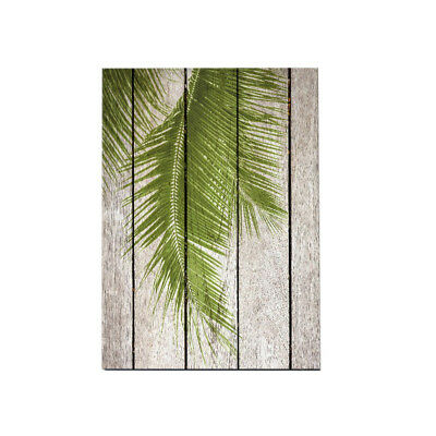 Green Tropical Plants Palm Leaves Wood Background Canvas Painting Picture