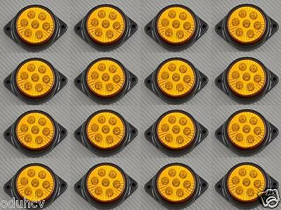 16x 7 LED 12V INDICATORE LATERALE AMBRA LUCI AUTO SUV Camper 4X4 PICK-UP