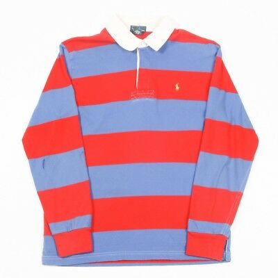 Vintage POLO by RALPH LAUREN Striped Rugby Shirt | Mens XS | Long Sleeve 90s