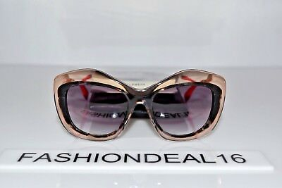 New FENDI Authentic Salmon Gray Havana Gold FF 0029/F/S 7NPN3 54mm Sunglasses