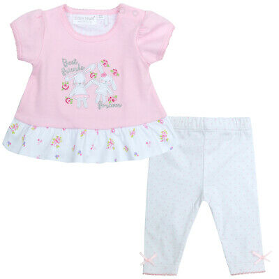 Baby Girls Top Leggings Outfit Set 100% Cotton Bunny Newborn Cute Embroidery