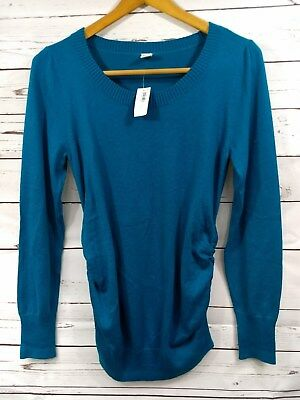 Old Navy Maternity NWT Womens Sz S/P Teal Blue Sweater