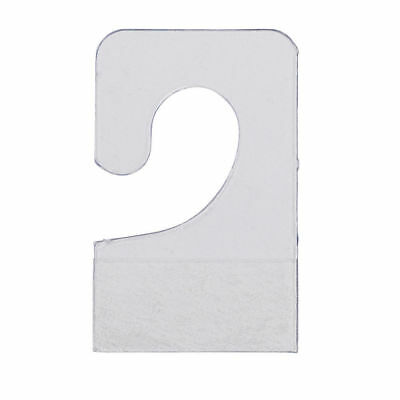 "600 Hook Style Hang Tabs Adhesive Clear Plastic ⅞"" x 1¼"" Carded Hanging Cards"
