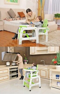 Baby Highchair Infant High Feeding Seat 3in1 and Toddler Table Chair